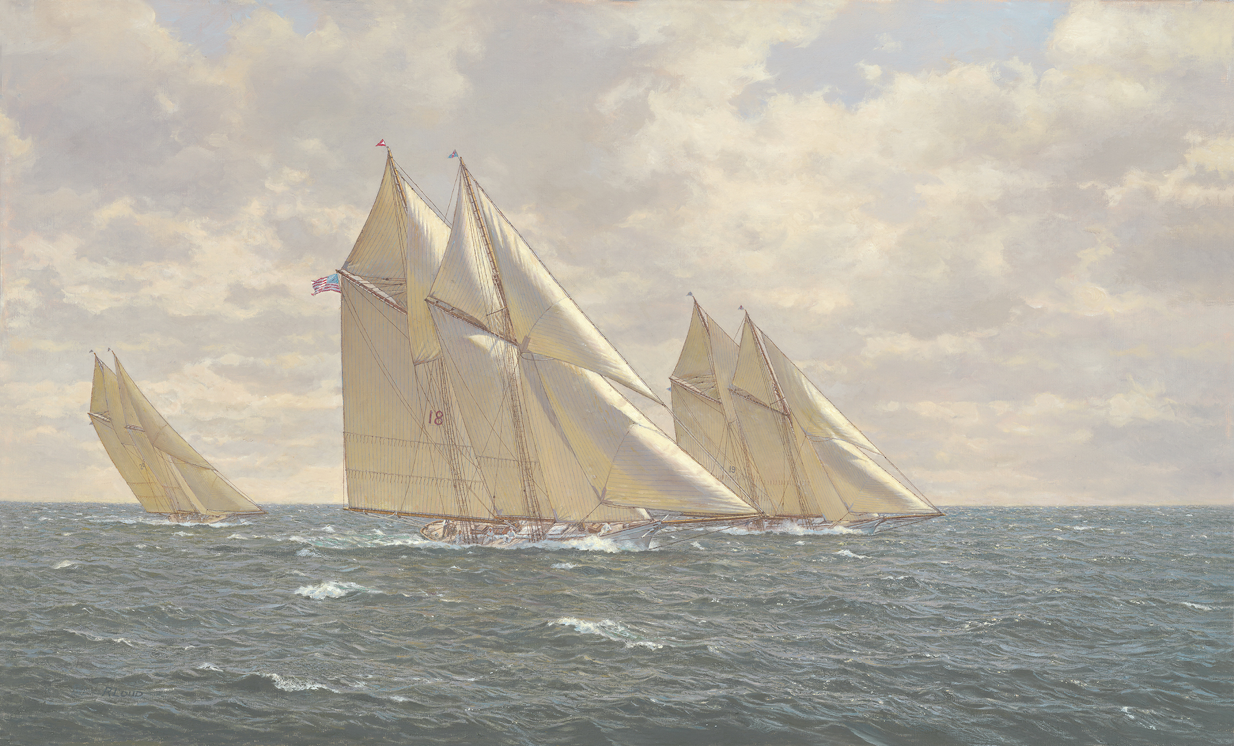 Schooner Merlin 1890, Eastern Yacht Club Puritan Cup, Mayflower ~ Marguerite