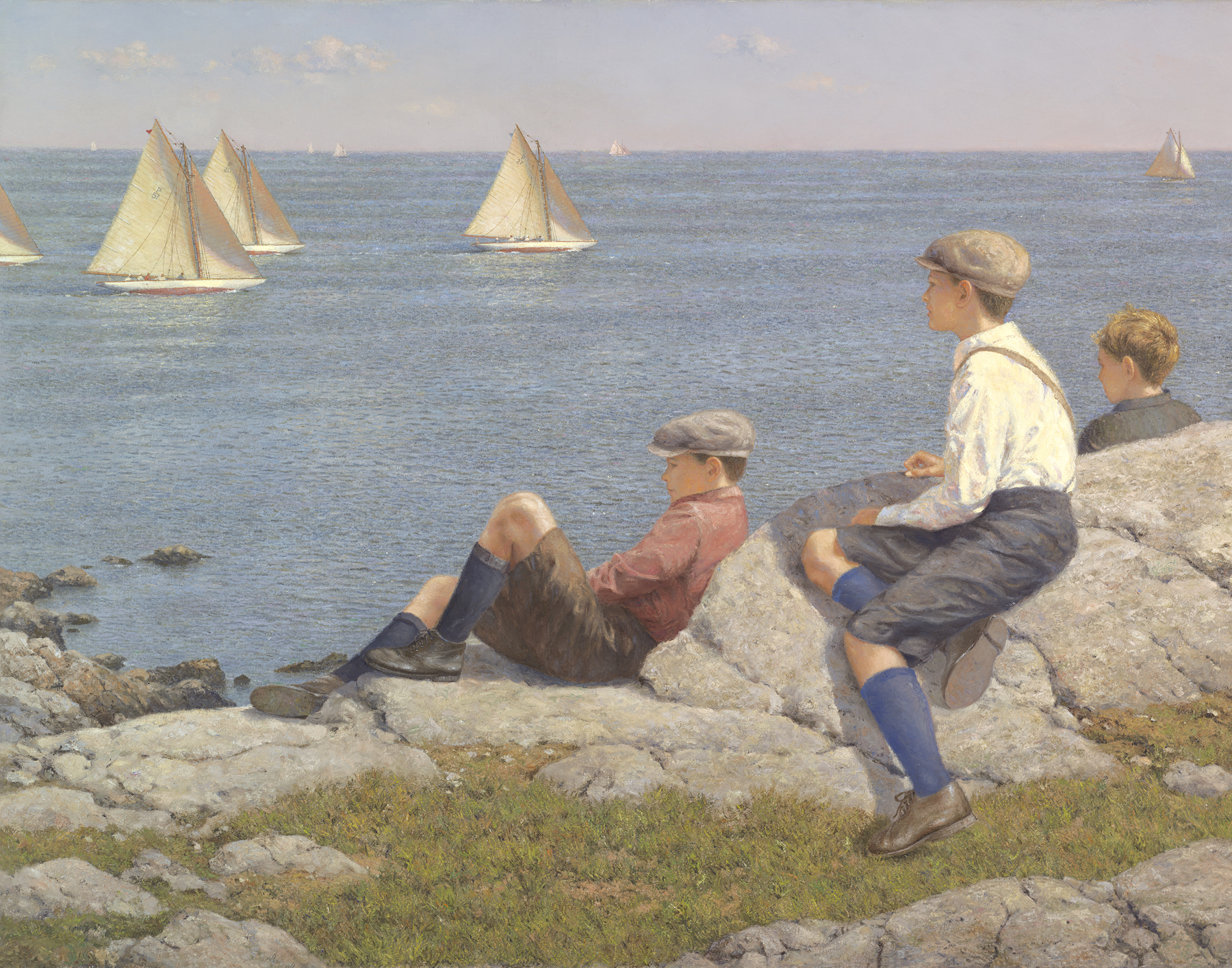 Watching The Race C. 1915, Marblehead