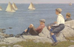 Watching The Race C. 1916, Marblehead
